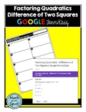 Factoring Quadratics - Difference of Two Squares Quiz for