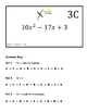 Factoring Quadratics Differentiated Circuit