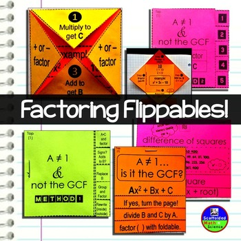 Factoring Quadratics Interactive Notebook