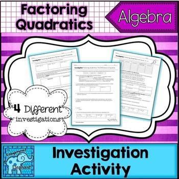 Factoring Quadratics Investigation Packet