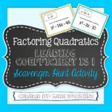 Factoring Quadratics Leading Coefficient is 1 Scavenger Hu