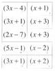 Factoring Quadratics Matching a>1 a not equal to 1 20 sets activity game no GCF