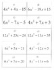 Factoring Quadratics Matching a>1 a not equal to 1 40 sets activity game no GCF