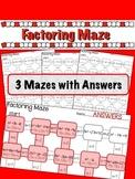 Factoring Quadratics Maze - 3 worksheets