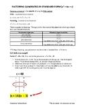 Factoring Quadratics Notes Part 1