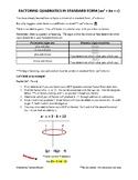 Factoring Quadratics Notes Part 2