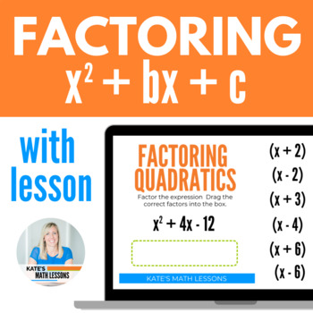 Factoring Quadratics Printable Task Cards and Boom Cards