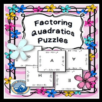 Factoring Quadratics Puzzle Set