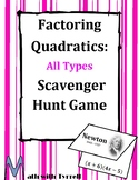 Factoring Quadratics All Types Scavenger Hunt Game