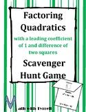 Factoring Quadratics Scavenger Hunt Game #2