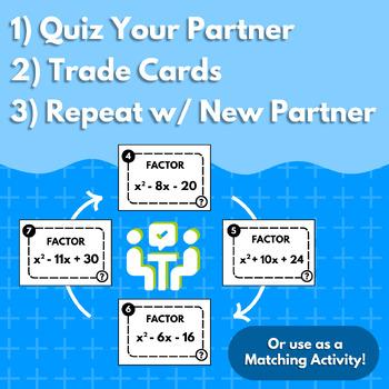 Factoring Quadratics Speed Dating Activity