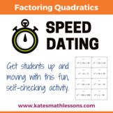 Factoring Quadratics Speed Dating Activity