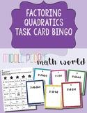 Factoring Quadratics Task Card Bingo