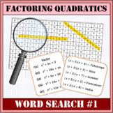 Factoring Quadratics Word Search #1