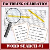 Factoring Quadratics Word Search #1