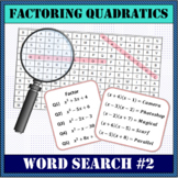 Factoring Quadratics Word Search #2