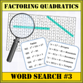 Factoring Quadratics Word Search #3