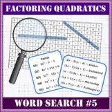 Factoring Quadratics Word Search #5