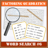 Factoring Quadratics Word Search #6