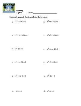 Factoring Quadratics Worksheet by Spiral Your Way Through ...