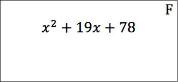 Factoring Quadratics when a=1