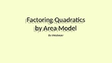 Factoring Quadratics with Area Models