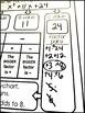 Factoring Trinomials Quick Check Template