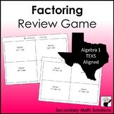 Factoring Review Game (A10D, A10E, A10F)