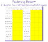 Factoring Review - Google Classroom - Conditional Formatting