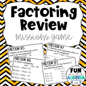 Factoring Review Missions Game