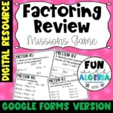 Factoring Review Missions Game {Google Forms Version} - DI