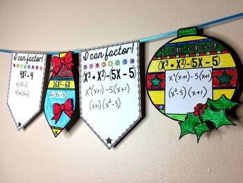 Factoring Quadratics Review Ornaments