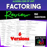 Algebra Factoring Review