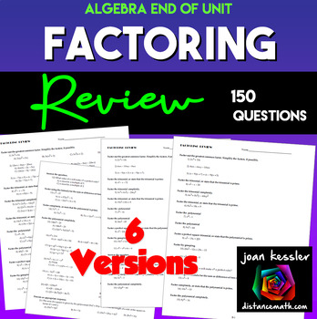 Algebra Factoring Review