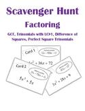 Factoring Scavenger Hunt Activity 2 (GCF, Trinomials with