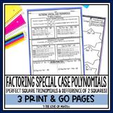 Factoring Special Case Polynomials Print and Go