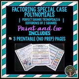 Factoring Special Case Polynomials Print and Go