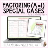 Factoring Special Case Polynomials a=1 Puzzle Pixel Art Activity