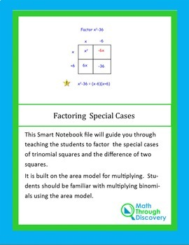 Algebra I:  Factoring Special Cases