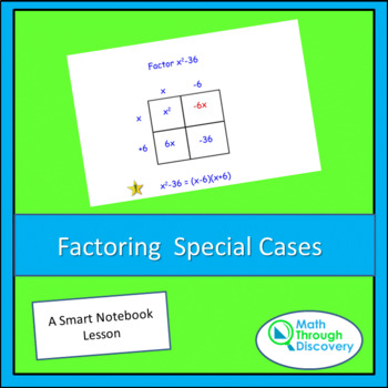 Factoring Special Cases Activity Teaching Resources Teachers Pay