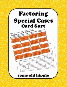 Factoring Special Cases Card Sort