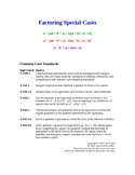 Factoring Special Cases Lesson Plan