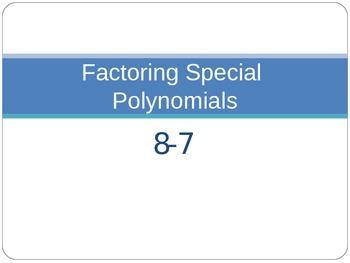 Factoring Special Polynomials