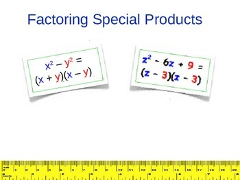 Factoring Special Products