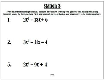 Factoring Stations