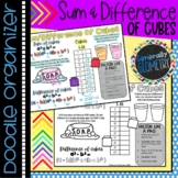 Factoring Sum & Difference of Cubes Doodle Organizer; Algebra