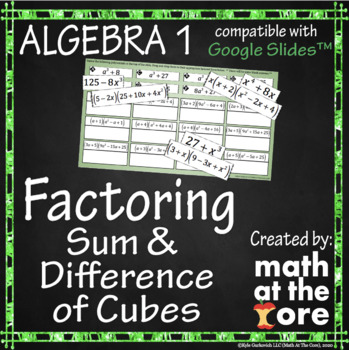Factoring - Sum and Difference of Cubes - GOOGLE Slides