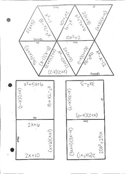 Factoring Tarsia Puzzle