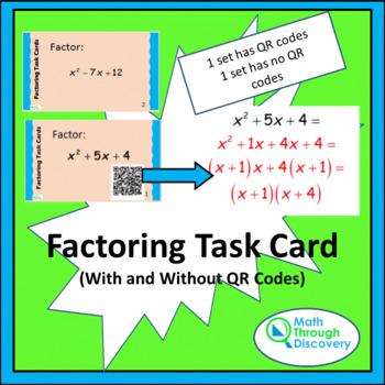 Algebra 1 and 2:  Factoring Task Card Bundle
