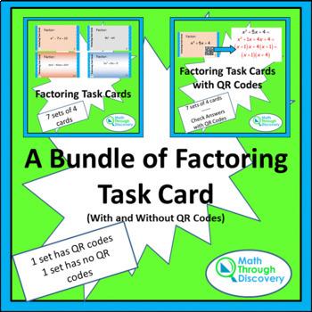 Factoring Task Card Bundle